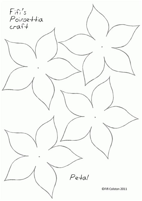 poinsettia template printable poinsettia template coloring home