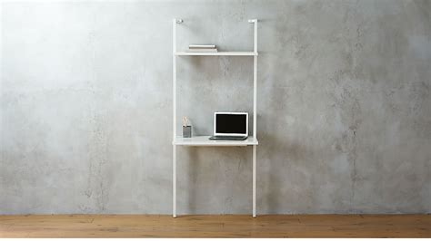 stairway white wall mounted desk cb2