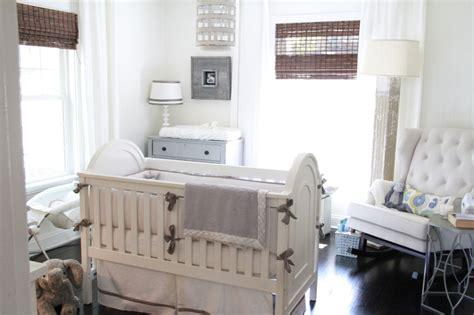 gray and white gender neutral nursery tour project nursery