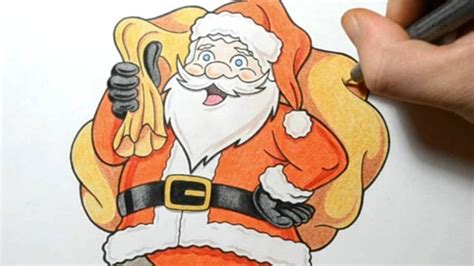 best drawi g of santa clause with chrisamas tree how i draw santa claus style drawing