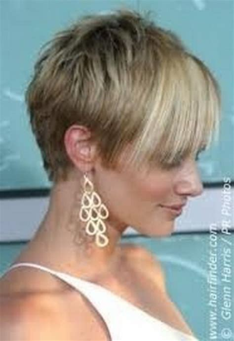pictures of short jagged in front and long in back pixie haircuts front and back view of same