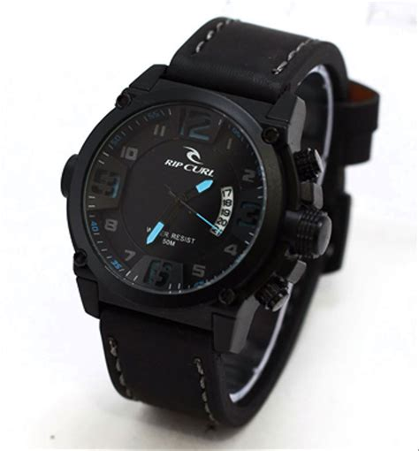 jual jam tangan ripcurl  tali kulit jam tangan pria