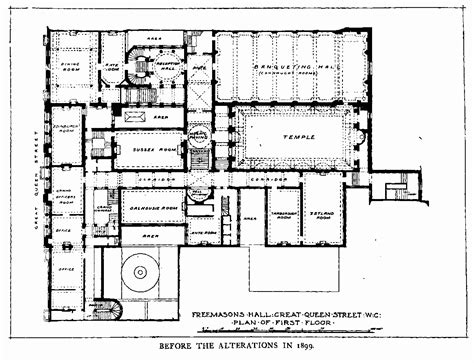 masonic lodge floor plan freemasons hall british history online