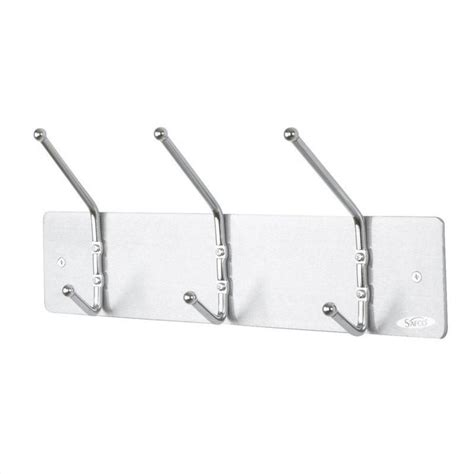 Hooks For Coat Rack by 3 Hook Wall Coat Rack Set Of 12 4161