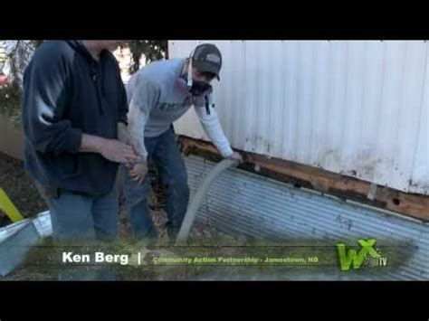 Modular Homes Reviews mobile home series insulating the belly youtube