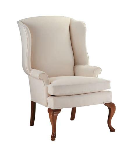 custom upholstered wingback chair by oak and velvet