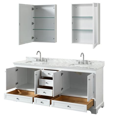 80 Inch Bathroom Vanity 80 Inch Sink Transitional White Finish Bathroom Vanity Set