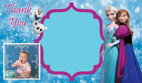 themes line frozen thank you card frozen theme