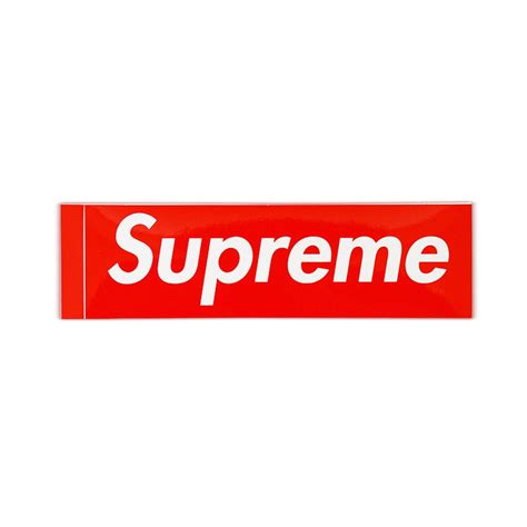 supreme web store how do you get supreme stickers