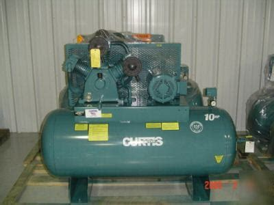 new10hp curtis industrial air compressor 120gallon tank