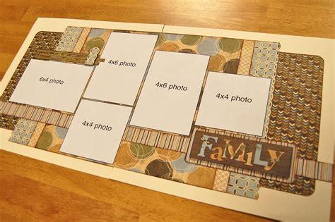scrapbook layout with 6 photos scrapbook generation debbie sanders sketch layout for