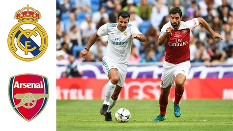 Arsenal Legends real madrid legends v arsenal legends goals and