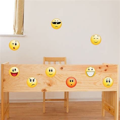 Smiley Deco Sticker by Stickers Muraux Pour Les Enfants Sticker Smileys Pack 1