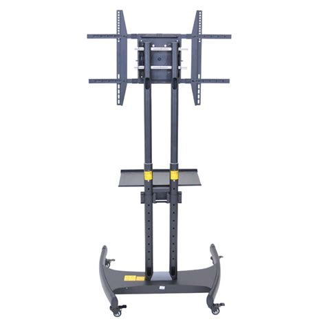 Stand Accessory Shelf by Luxor Rotating Monitor Mount On Stand With Accessory Shelf