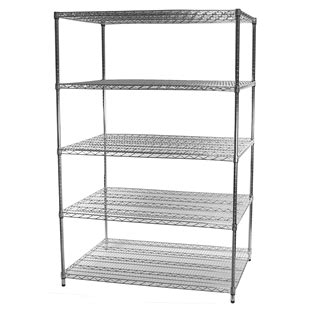 36 quot d x 48 quot w wire shelving unit with five tiers wire racking
