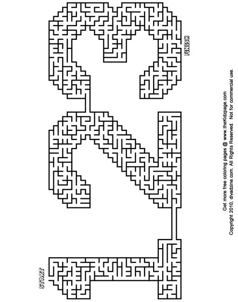 Printable Learning Mazes | 123 maze free printable learning activities for kids