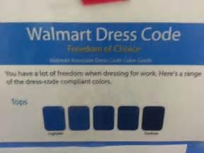 walmart employee dress code gives you freedom of choice