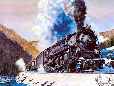 painting trains the magpie howard fogg