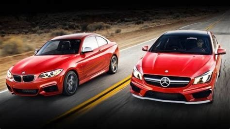 mercedes beamer beamer benz or subaru bmw m235i vs mercedes cla45 amg