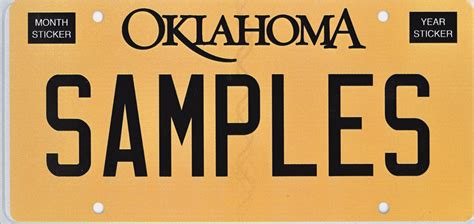 oklahoma tax commission personalized license plates