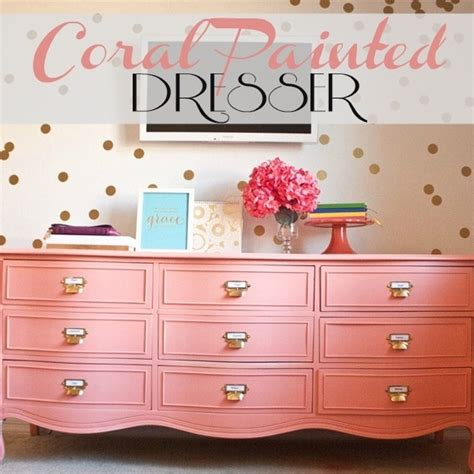 cora bedroom furniture coral upcycled dresser love this the dresser the gold polka dot wall raegan jane