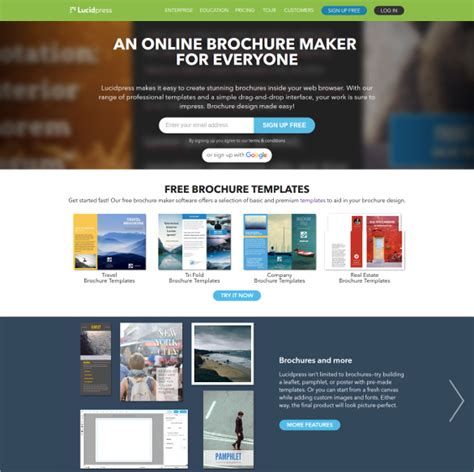 free brochure maker template 23 free brochure maker tools to create your own brochure