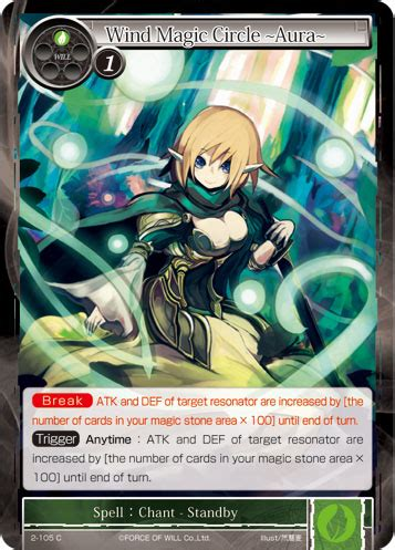 gorce of will card template wind magic circle aura of will tcg wiki fandom