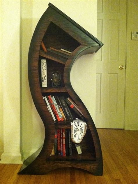 Handmade Bookshelf - handmade curved wooden bookshelves the green