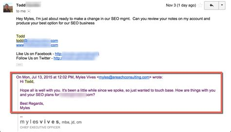 dead simple follow up email template to get seo business