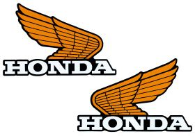 Honda Wings Aufkleber by Honda Wing Sticker 14 0sywgc9ly14