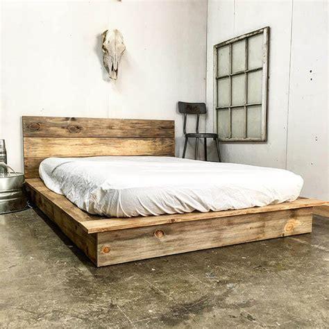 rustic platform bed bed frames insteading
