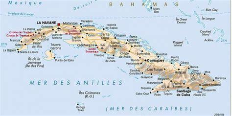 Cuba carte géographique Arts et Voyages