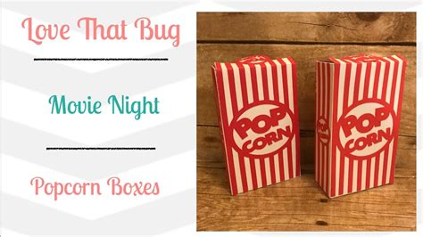 Popcorn Box cricut explore popcorn box