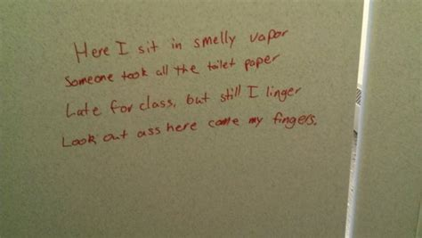 bathroom wall poetry 18 beautiful exles of bathroom graffiti art going