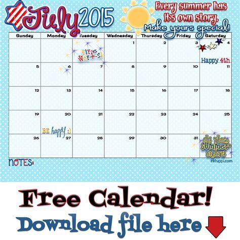 printable july 2015 calendar template calendar pinterest 2015