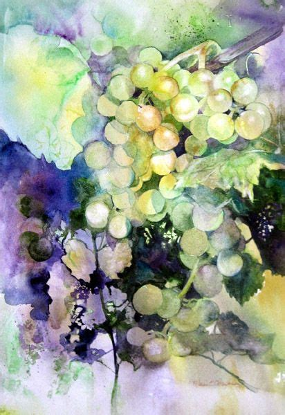 watercolor grapes tutorial watercolor paintings of grapes grapes pinterest