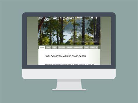 design caign mockup virtual wave media maple cove cabin pender island