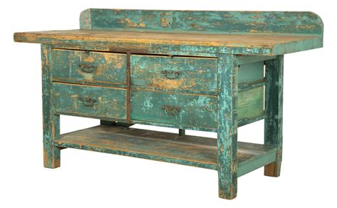 vintage work bench antique blue work bench jayson home