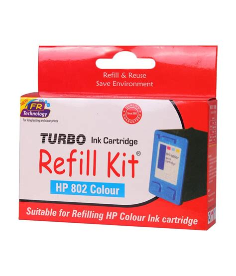 Hp 802 Black By Ok Mart turbo refill kit for hp 802 color ink cartridge buy