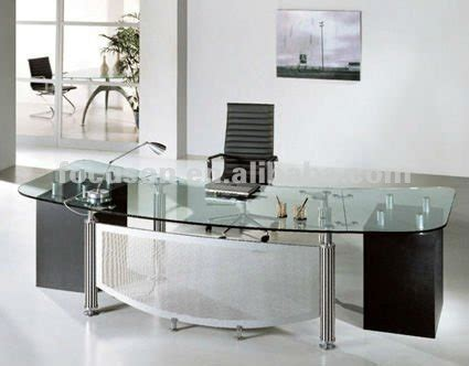 fks hd ed modern glass top office desk buy glass top executive deskoffice deskmodern