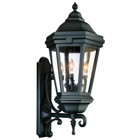 Troy Lighting Outdoor Troy Lighting Verona 3 Light Matte Black Outdoor Wall Lantern Bcd6834mb The Home Depot