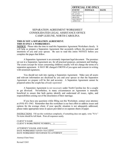 separation agreement template free free microsoft word templates part 3