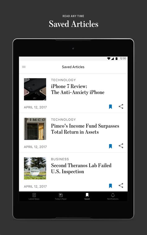 wsj app for android the wall journal appstore for android