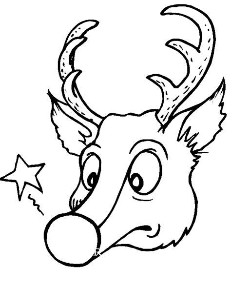 coloring pages deer rudolf cartoon black history rudolph the red nose reindeer