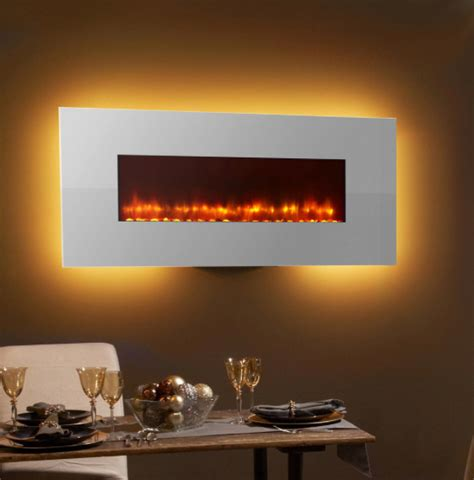electric fireplace wall mount modern simplifire 58 in white linear wall mount electric