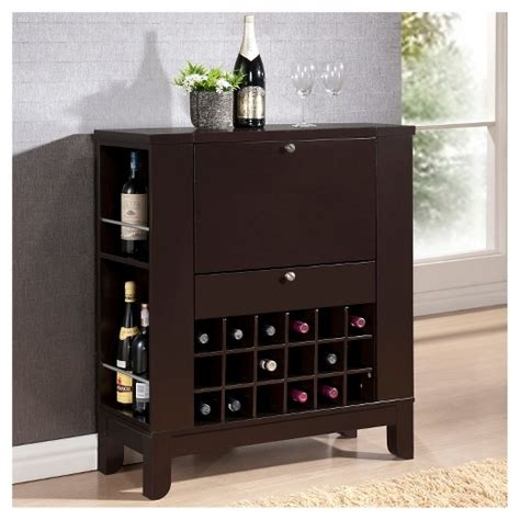 baxton bar and wine cabinet modesto modern bar and wine cabinet brown
