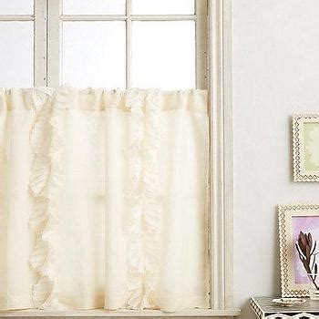 anthropologie flutter curtains french cafe barstool pottery barn
