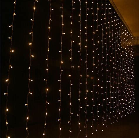 series lights shiny led curtain colored lights string with controller