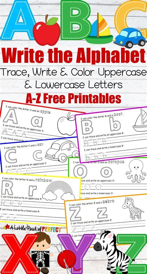 printable alphabet set learning to write the alphabet a z free printables kids