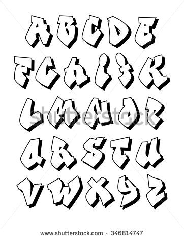 Sticker Cutting Hurufabjad 2 graffiti alphabet stock images royalty free images